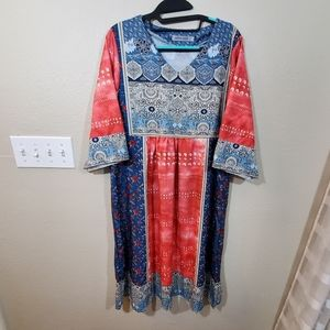 MissLook caften boho floral dress